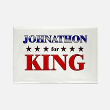 JOHNATHON for king Rectangle Magnet