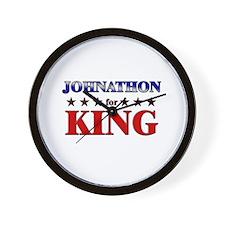 JOHNATHON for king Wall Clock