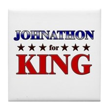 JOHNATHON for king Tile Coaster