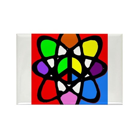 Atomic Peace Rectangle Magnet (10 pack)