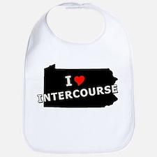 I Heart Intercourse Amish PA  Bib