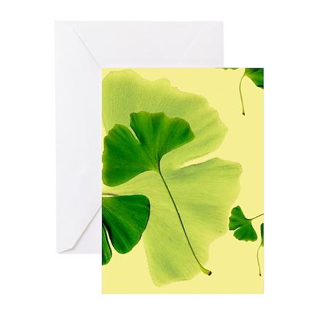 Ginkgo Biloba Leaves Greeting Cards (Pk of 10)