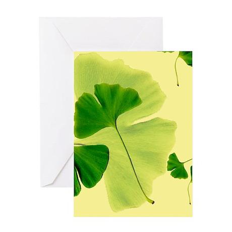 Ginkgo Biloba Leaves Greeting Card
