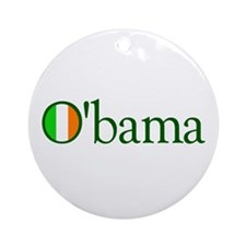 Obama Irish Ornament (Round)