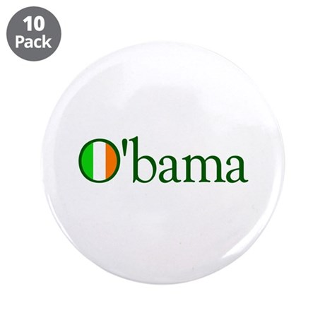 "Obama Irish 3.5"" Button (10 pack)"