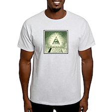Pyramid Eye U.S. dollar logo Ash Grey T-Shirt