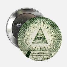 Pyramid Eye U.S. dollar logo Button