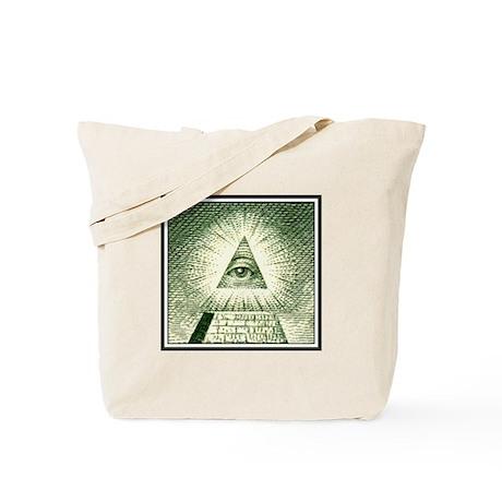 Pyramid Eye U.S. dollar logo Tote Bag