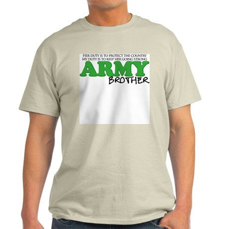 My Duty: Army Brother Light T-Shirt