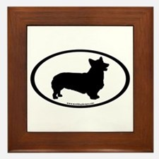 Welsh Corgi Oval Framed Tile