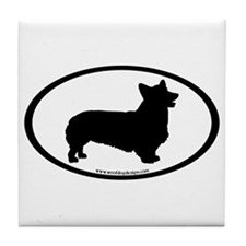 Welsh Corgi Oval Tile Coaster