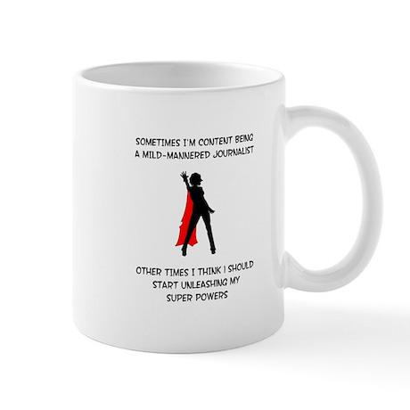 Superheroine Journalist Mug