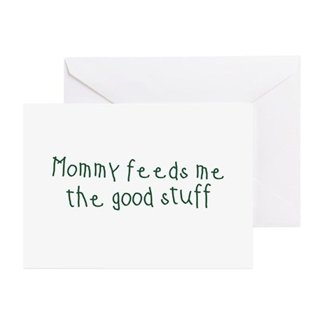 Mommy Feeds Me Greeting Cards (Pk of 10)