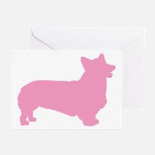 Pink Pembroke Welsh Corgi Greeting Cards (Pk of 20