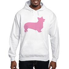 Pink Pembroke Welsh Corgi Hoodie Sweatshirt
