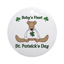 Baby's First St. Patrick's day Ornament (Round)