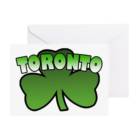 Toronto Shamrock Greeting Cards (Pk of 10)