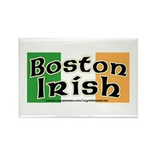 Boston Irish - Flag Design Rectangle Magnet