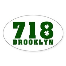 718 Brooklyn Oval Decal