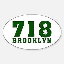 718 Brooklyn Oval Decal