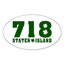 718 Staten Island Oval Decal