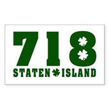 718 Staten Island Rectangle Decal