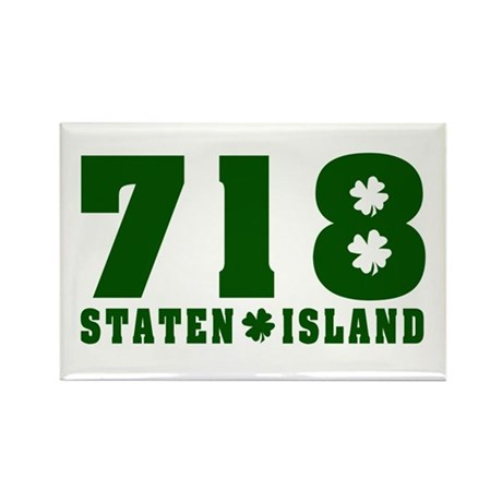 718 Staten Island Rectangle Magnet