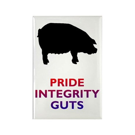 Red and Blue Pig Rectangle Magnet