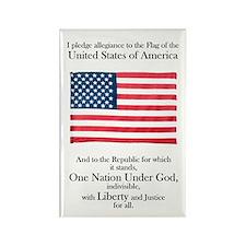 Pledge of Allegiance U.S. Flag Rectangle Magnet