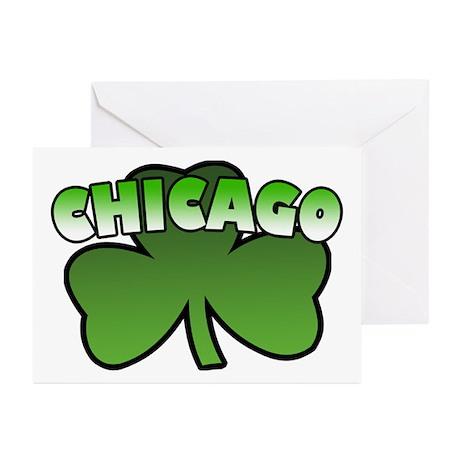 Chicago Shamrock Greeting Cards (Pk of 10)