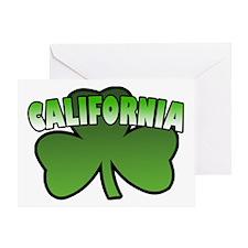 California Shamrock Greeting Card
