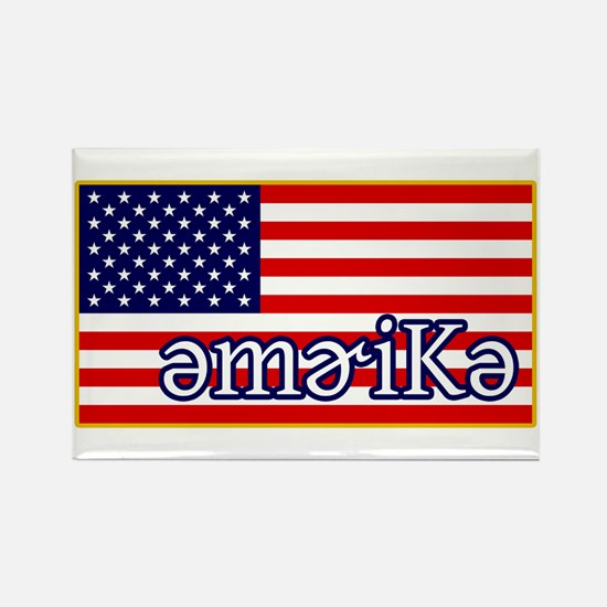 Phonetics America Rectangle Magnet