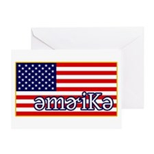 Phonetics America Greeting Card