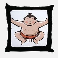 Japan Sumo Wrestler Throw Pillow