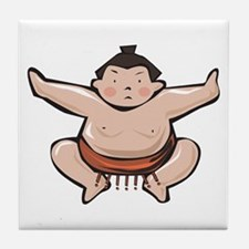 Japan Sumo Wrestler Tile Coaster