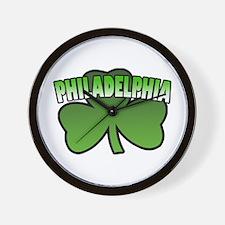 Philadelphia Shamrock Wall Clock