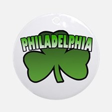 Philadelphia Shamrock Ornament (Round)