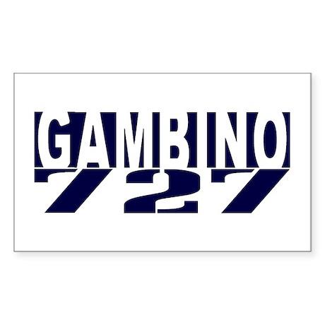 GAMBINO 727 Sticker (Rectangle)