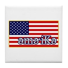 Phonetics America Tile Coaster