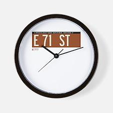 71st Street in NY Wall Clock