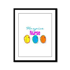 Hospice Nurse Framed Panel Print