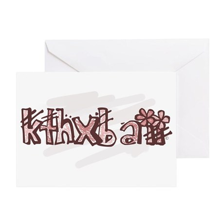 kthxbaii Greeting Card
