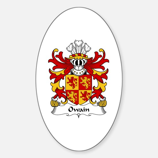 Owain (GLYNDWR, Prince of Wales) Oval Decal