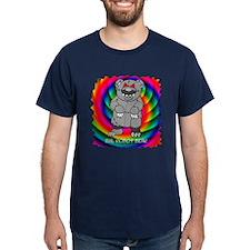 Psychedelic Evil Robot Bear T-Shirt