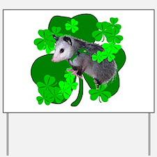 Lucky Irish Possum Yard Sign