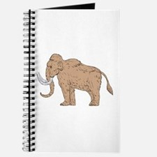 Woolly Mammoth Side Drawing Journal