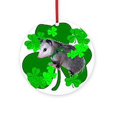 Lucky Irish Possum Ornament (Round)