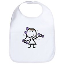 Girl & Exercise Bib