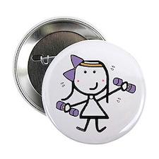 """Girl & Exercise 2.25"""" Button"""