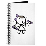 Stick figure girl Journals & Spiral Notebooks